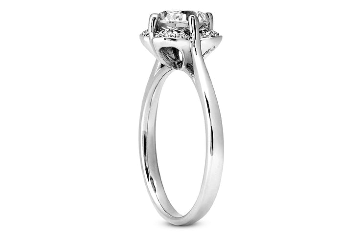 Petal Halo Engagement Ring Setting
