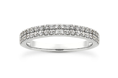 .38ctw Double Row Diamond Band