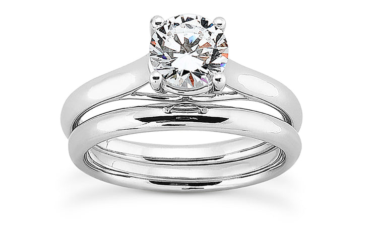 Simple Solitaire Diamond Ring Setting