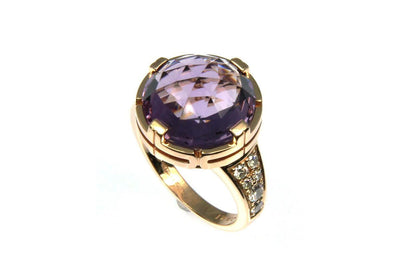 """Bulgari"" Parentesi Amethyst Ring"
