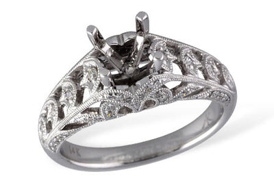Diamond Filigree Bridal Ring Setting