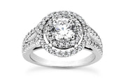 Double Halo Diamond Ring Setting