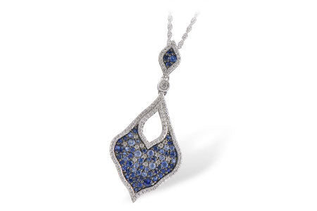 Blue Sapphire and Diamond Statement Necklace