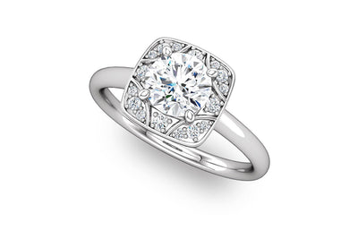 """Jewel"" Diamond Ring Setting"