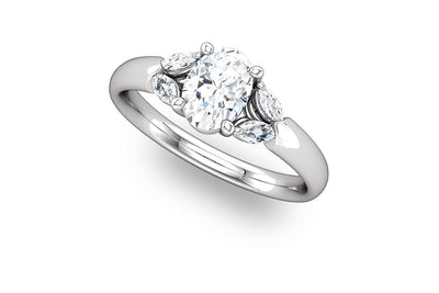 """Calla"" Diamond Ring Setting"