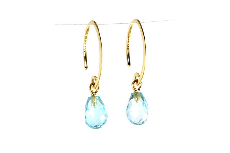 Mini Simple Sweep Blue Topaz Earring