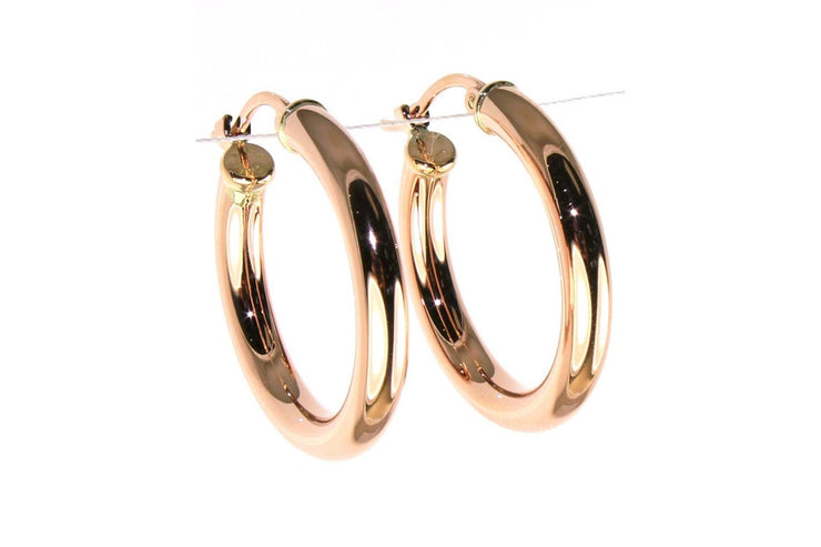 Rose Gold Classic Round Hoop Earrings
