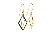 Double Diamond Dangle Earring