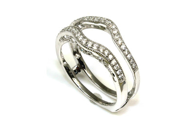 .25ctw Diamond Milgrain Guard Ring