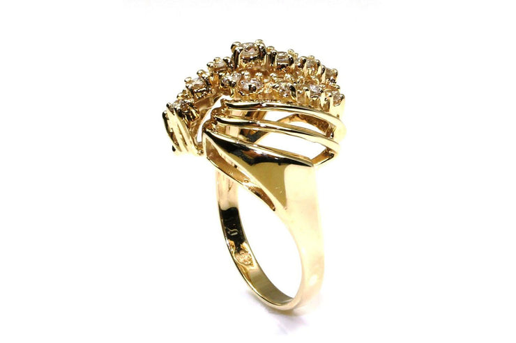 Diamond Shell Fashion Ring