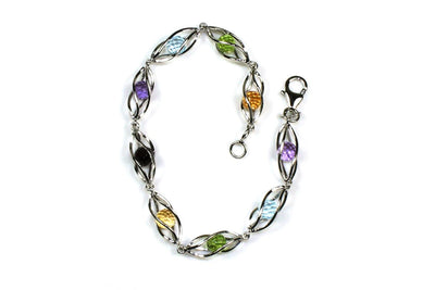 Caged Gemstone Bracelet