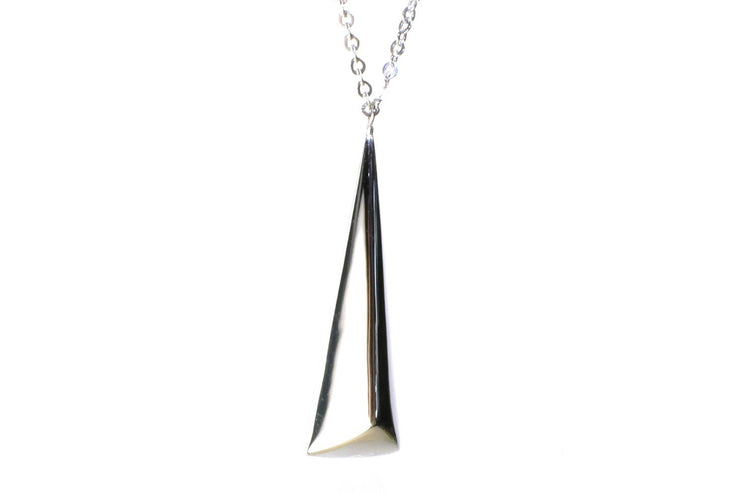 "Bold Pyramid Drop 30"" Necklace"