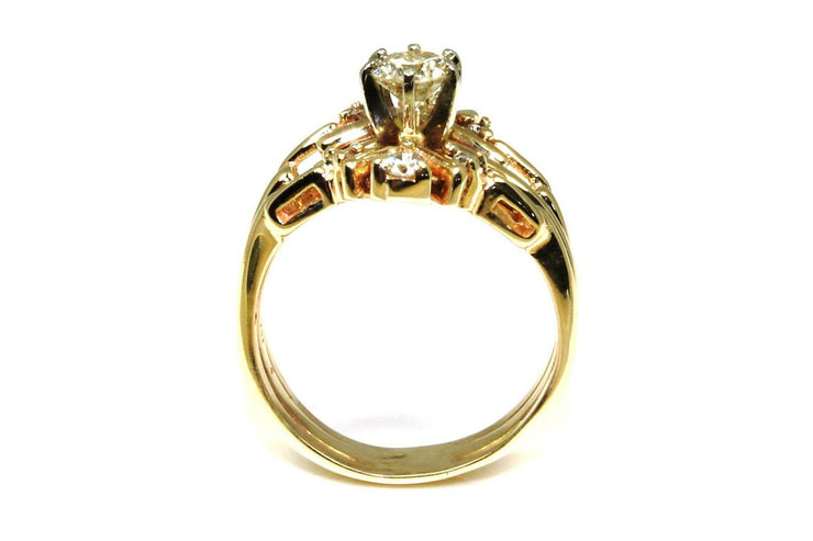 .56ctw Diamond Ring with a Diamond Ring Guard