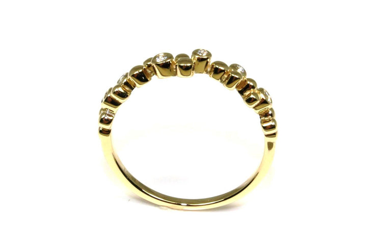 Diamond Bubble Stacking Ring