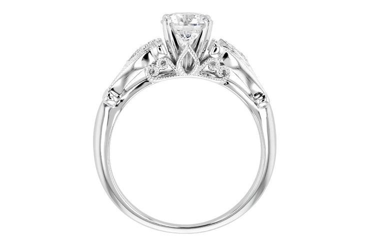 Two-Tone Intricate Diamond Ring Setting