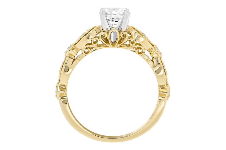 Diamond Milgrain Ring Setting
