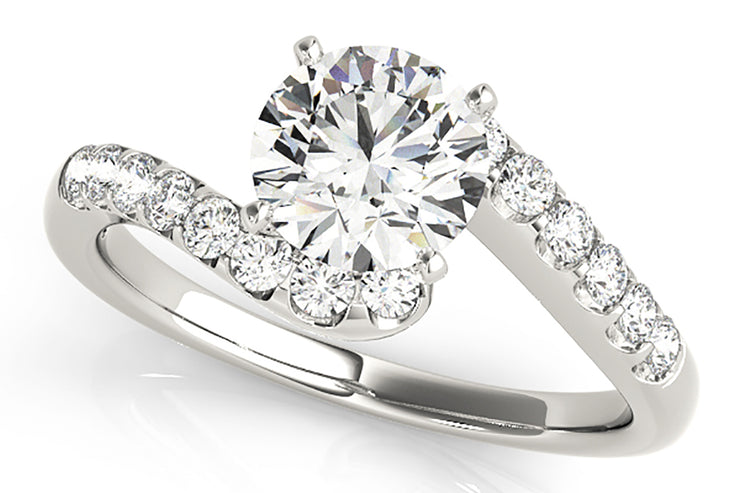 .25ctw Diamond Bypass Engagement Ring Setting
