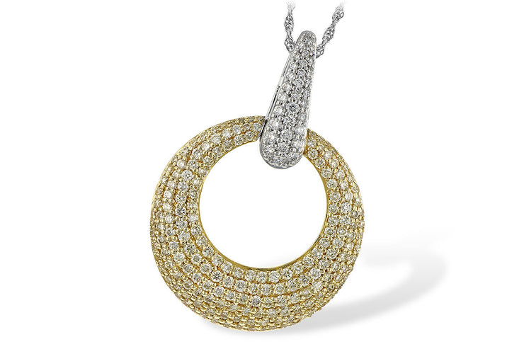 1.64ctw Yellow and White Diamond Circle Necklace