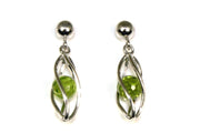 Caged Peridot Earrings