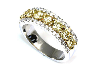 Yellow Fire Diamond Ring