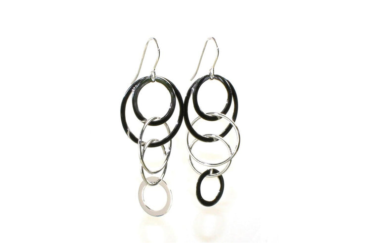 Multi Ring Dangle Earring