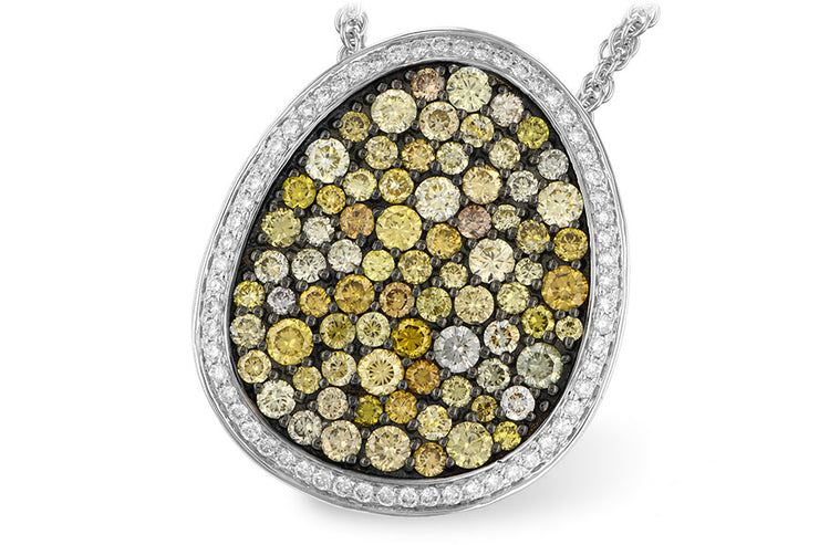 2.46ctw Natural Colored Diamond Boulder Necklace