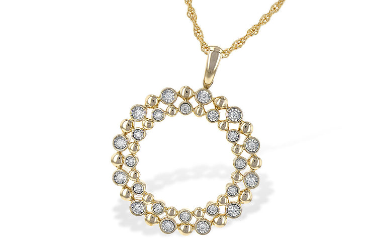 Diamond Champagne Bubbles Wreath Necklace