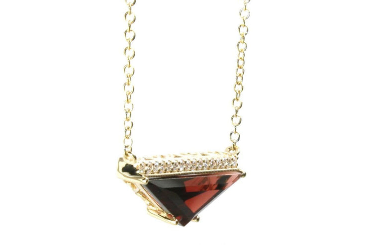 Garnet Geometric Necklace