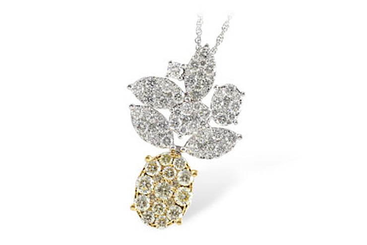 3.15ctw Diamond Pineapple Necklace
