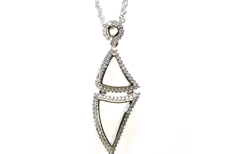 Double Triangle Diamond Necklace