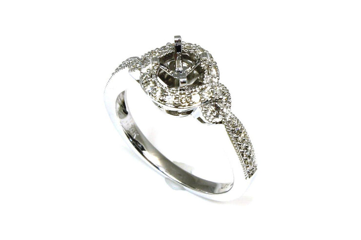 Diamond Ring Setting for 1/3ct Round Gem