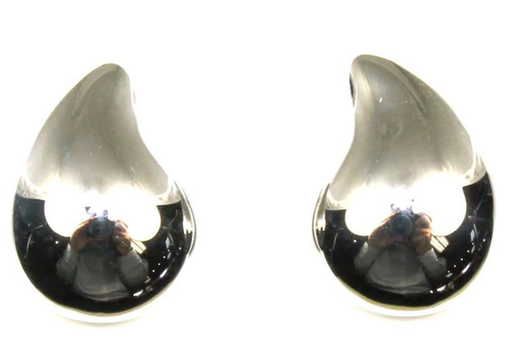 Puffed Teardrop Earrings