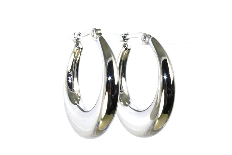 Small Polished Hoop