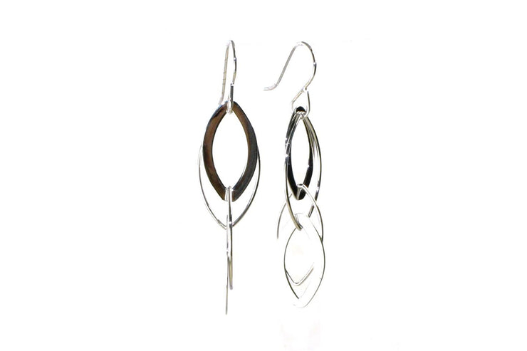 Interlocking Almond Drop Earrings