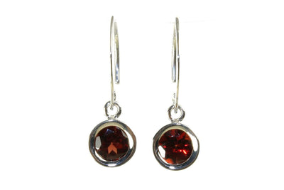 Garnet Mini Sweep Earrings