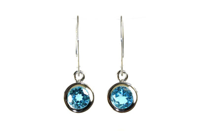 Blue Topaz Mini Sweep Earrings