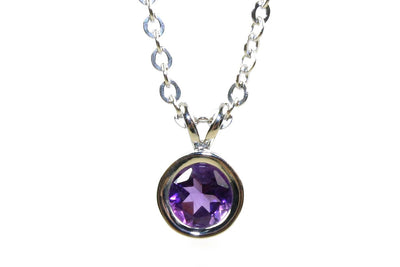 Amethyst Bezel Necklace