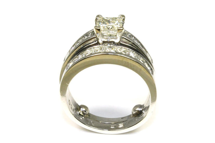 2.18ctw Princess Cut Diamond Ring