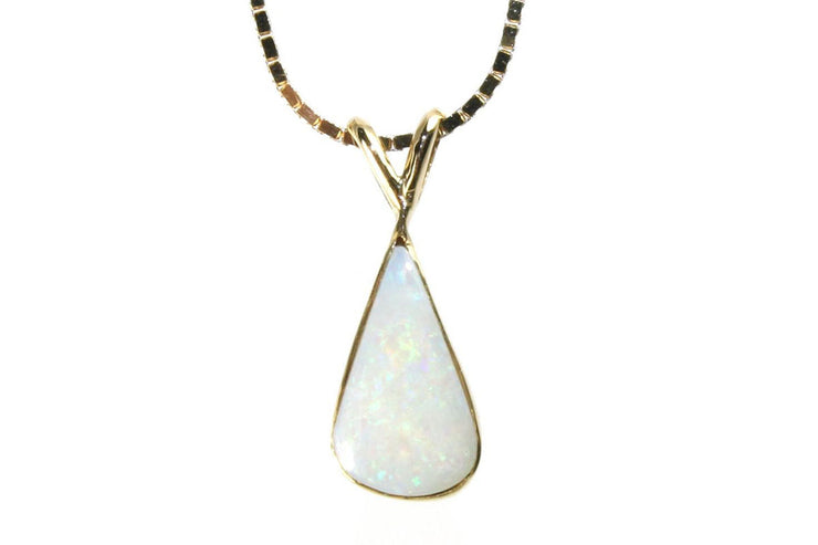 Pear Shaped Opal Necklace