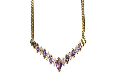 Marquise Amethyst Necklace