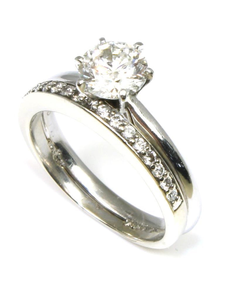 Diamond Solitaire Ring with Band, 6372
