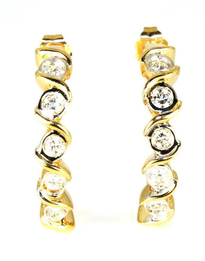 1ctw Bezel Set Diamond Earrings, 6382