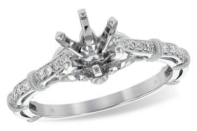 Simple Detail Diamond Ring Setting