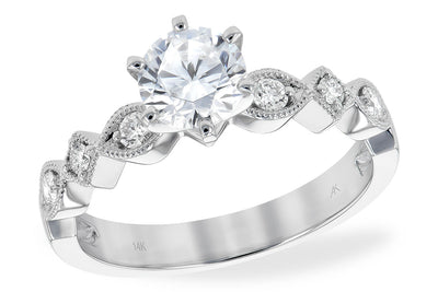 Milgrained Diamond Ring Setting