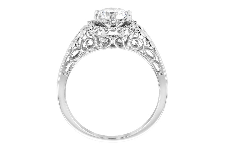 Diamond Halo Clover Ring Setting