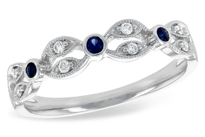 Blue Sapphire and Diamond Band