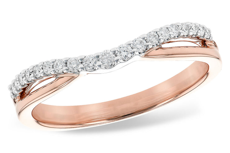 Diamond Wave Wedding Band