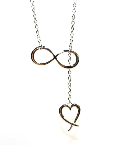 Infinity Heart Dangle Necklace