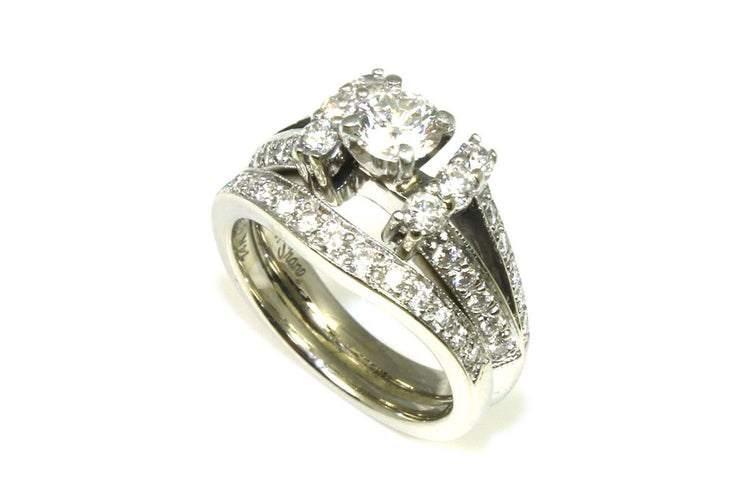 Diamond 1.18ctw Split Shank Bridal Set