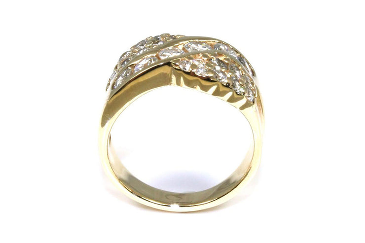 Diamond 1.56ctw Ribbon Ring